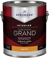 Augusta Paint & Decorating Coronado Grand is an acrylic paint and primer designed to provide exceptional washability, durability and coverage. Easy to apply with great flow and leveling for a beautiful finish, Grand is a first-class paint that enlivens any room.boom