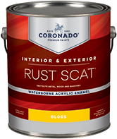 Augusta Paint & Decorating Rust Scat Waterborne Acrylic Enamel is suitable for interior or exterior use. Engineered for metal surfaces, it also adheres to primed masonry, drywall, and wood. It has tenacious adhesion and provides excellent color and gloss retention.boom